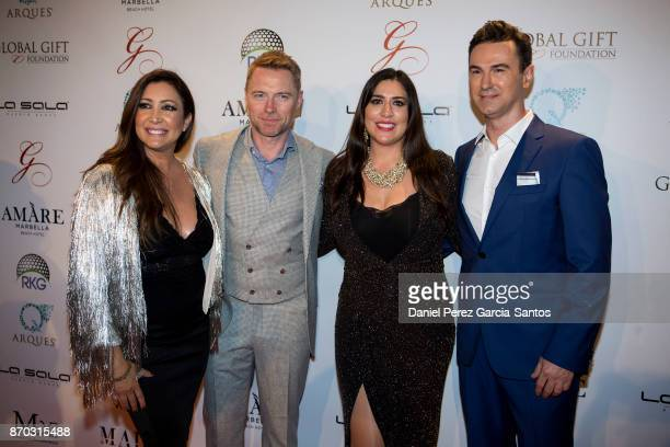 Maria Bravo Ronan Keating Inmaculada Almeida and Mario Arques attend at the 2nd Annual Global Gift Ronan Keating Golf Tournament Dinner and Concert...