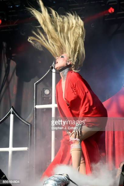 Maria Brink of In This Moment performs at Champions Park on October 1 2017 in Louisville Kentucky