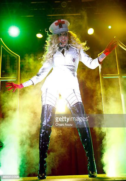 Maria Brink of In This Moment performs at KOKO on March 5 2015 in London England