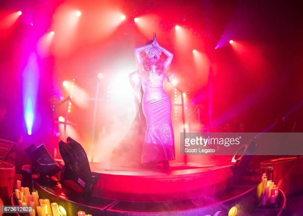 Maria Brink of In This Moment performs at The Fillmore on April 26 2017 in Detroit Michigan