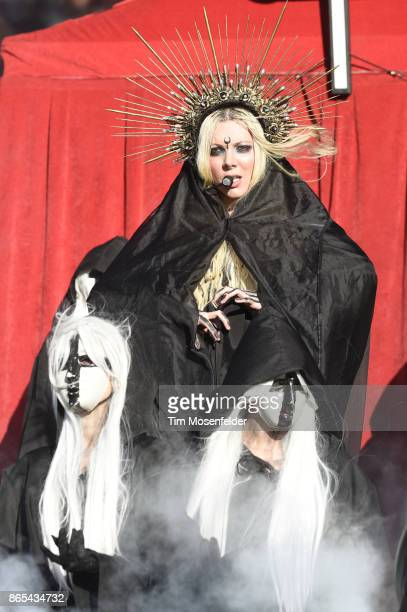 Maria Brink of In This Moment performs during the Monster Energy Aftershock Festival at Discovery Park on October 22 2017 in Sacramento California