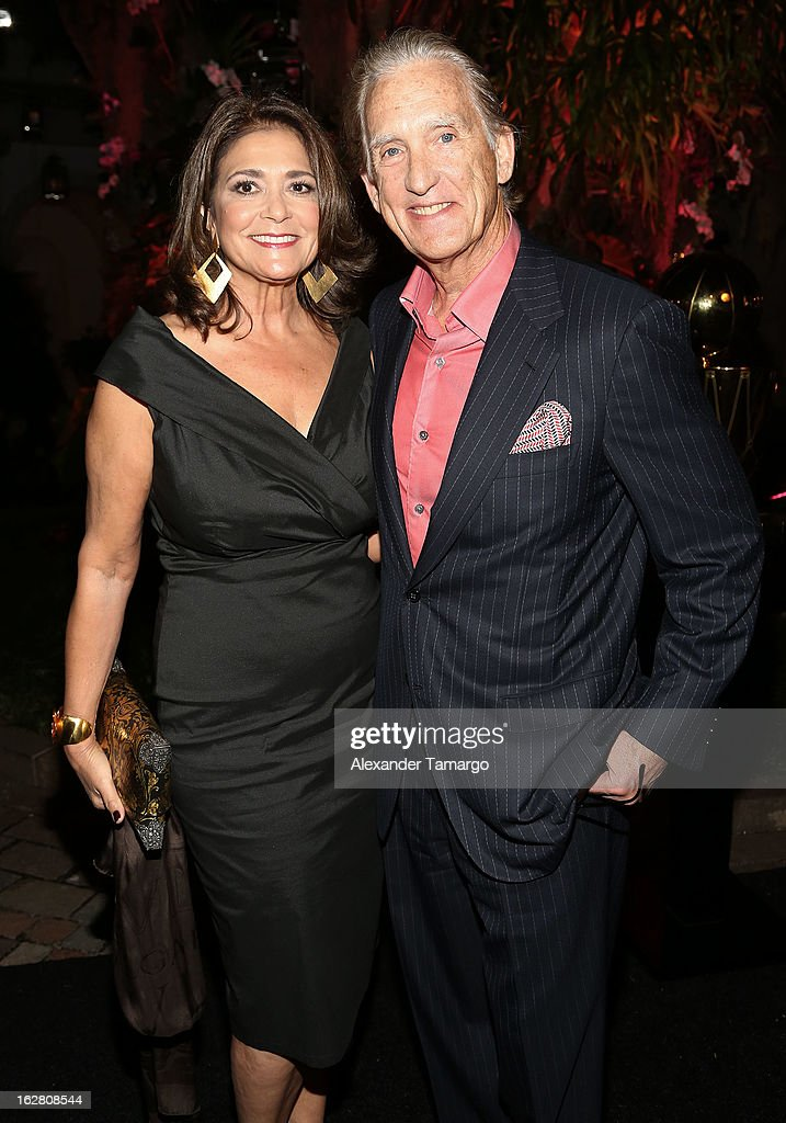 Maria Browne and Don Browne attend the Miami HEAT Family Foundation night of 'Motown Revue' on February 27, 2013 in Miami, Florida.