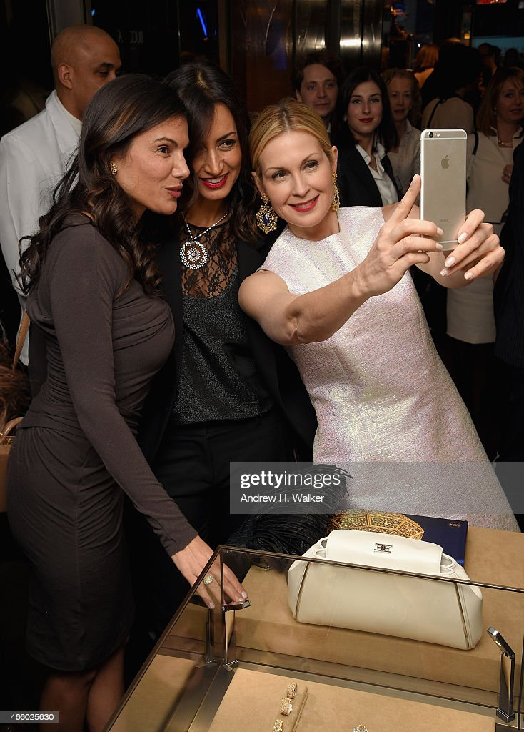 Maria Buccellati (C) and Kelly Rutherford (R) attend Timeless Blue, Buccellati New York Flagship Opening Celebration on March 12, 2015 in New York City.