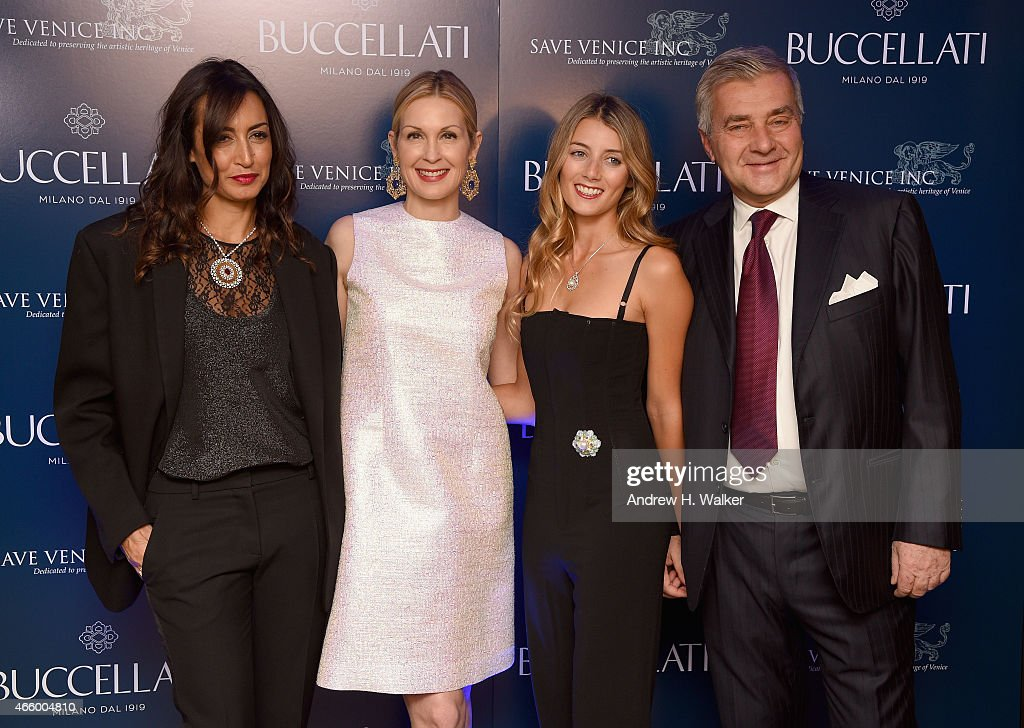 Maria Buccellati, Kelly Rutherford, Lucrezia Buccellati and Andrea Buccellati attend Timeless Blue, Buccellati New York Flagship Opening Celebration on March 12, 2015 in New York City.
