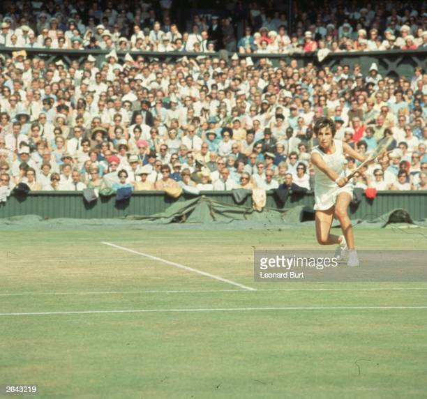 Maria Bueno of Brazil in action at Wimbledon She lost in the final to Billie Jean King