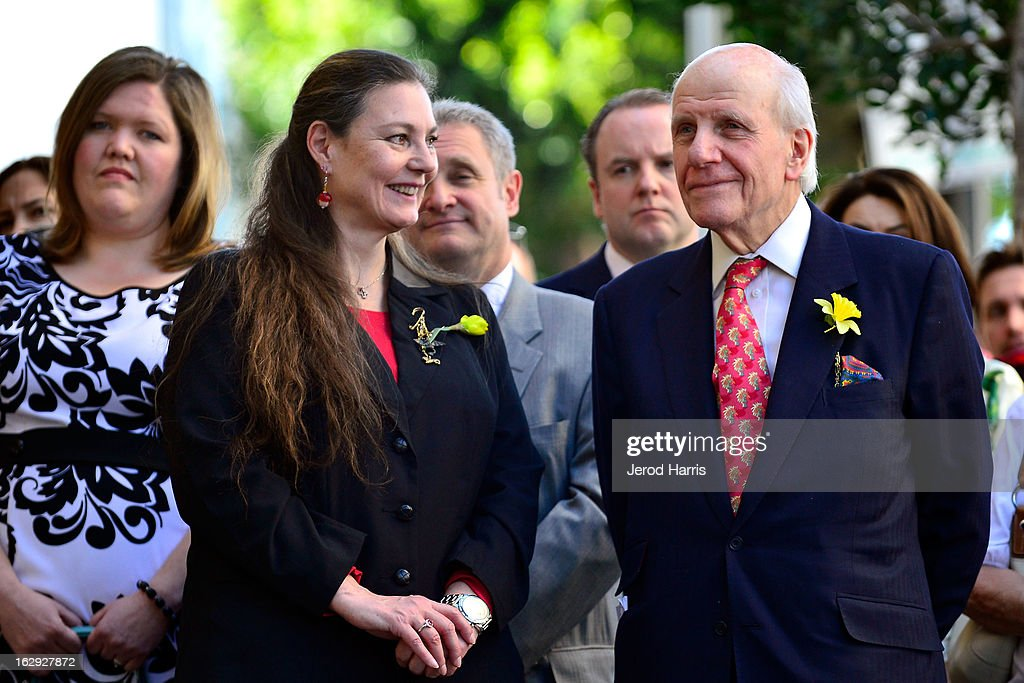 <a gi-track='captionPersonalityLinkClicked' href=/galleries/search?phrase=Maria+Burton&family=editorial&specificpeople=1501381 ng-click='$event.stopPropagation()'>Maria Burton</a> (L) and Lord David Rowe-Beddoe attend the ceremony honoring her father Richard Burton with a Star on the Hollywood Walk of Fame next to Elizabeth Taylor's star on March 1, 2013 in Hollywood, California.