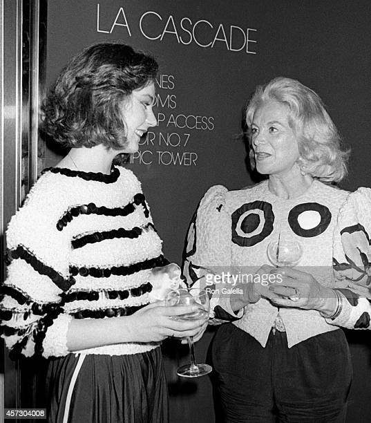 Maria Burton Joanne Herring attend Michaele Vollbracht Party on June 15 1981 at La Cascade Restaurant in New York City