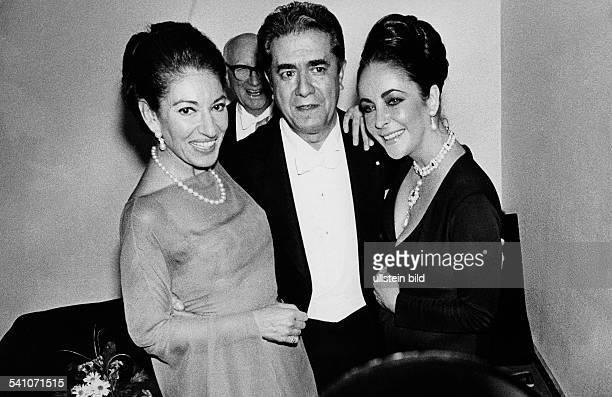 Maria Callas *Sängerin Sopran USA / Griechenland und mit Elizabeth Taylor und Giuseppe di Stefano 1974