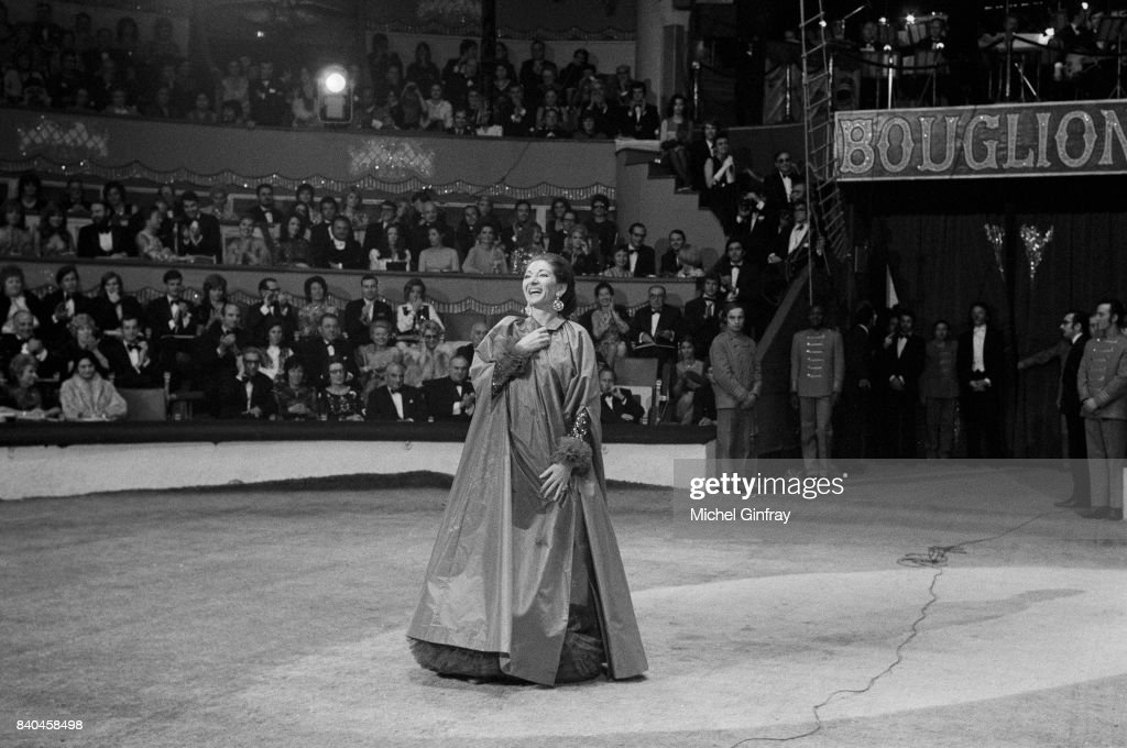 Maria Callas, Greek Opera singer (1923-1977) at the Union of artists Gala, Paris, 24th April 1971
