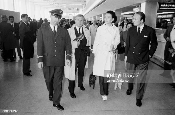 Maria Callas Greek Opera singer is about to fly to Istanbul with her poodles Pixie and Djeddas 31st May 1969