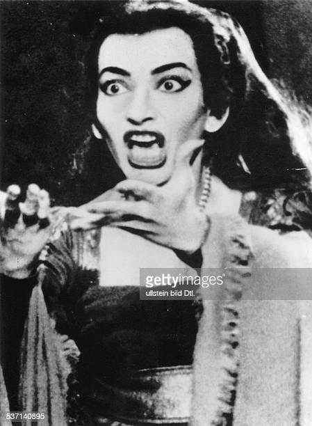 Maria Callas Sängerin Sopran USA / Griechenland als 'Medea' in der gleichnamigen Oper von Luigi Cherubini im Opernhaus von Dallas Texas