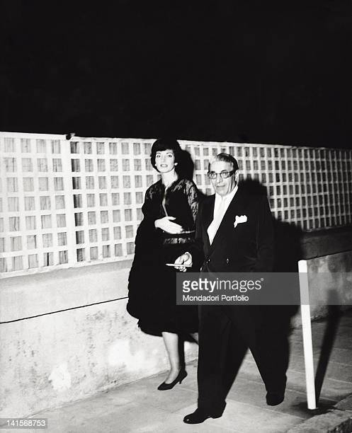 Maria Callas with the famous shipowner Onassis August 1960