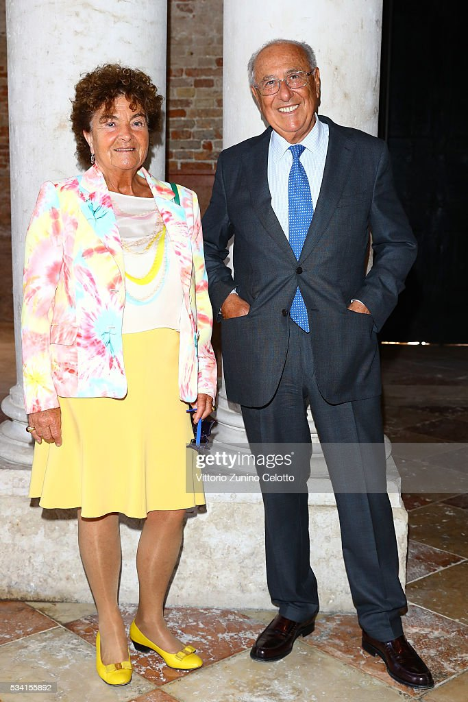 Maria Camilla Bianchini and Alfredo Bianchini attend the private view and lunch of 'Belligerent Eyes' at Fondazione Prada at Ca' Corner della Regina on May 25, 2016 in Venice, Italy.