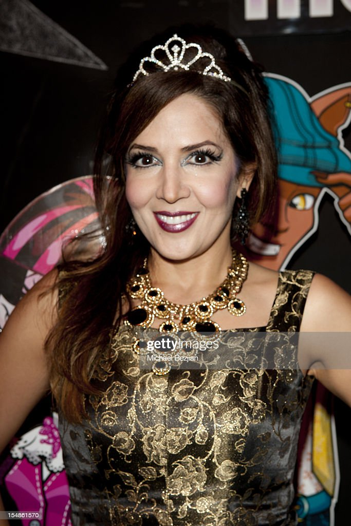 Maria Canals Barrera attends Keep A Child Alive Presents 2012 Dream Halloween Los Angeles - Inside at Barker Hangar on October 27, 2012 in Santa Monica, California.