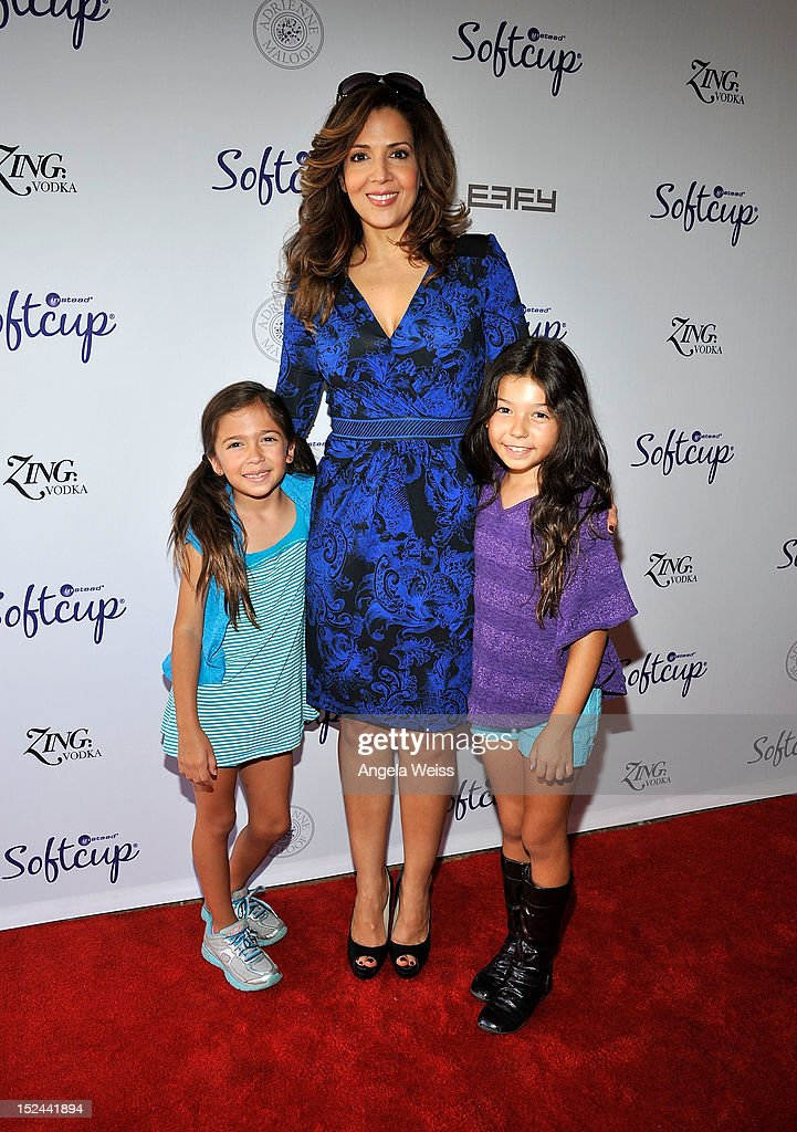 <a gi-track='captionPersonalityLinkClicked' href=/galleries/search?phrase=Maria+Canals-Barrera&family=editorial&specificpeople=5397881 ng-click='$event.stopPropagation()'>Maria Canals-Barrera</a> and her daughters Bridget and Madeleine attend the Softcup Beauty Retreat with ZING Vodka Cocktails at a private residency on September 20, 2012 in Beverly Hills, California.