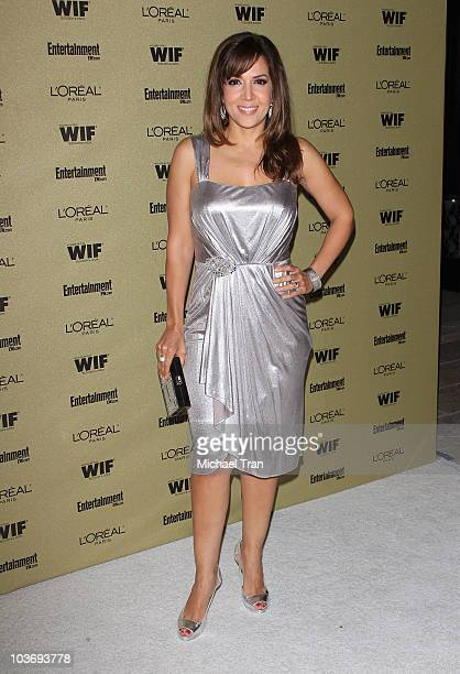 Maria CanalsBarrera arrives at the Entertainment Weekly and Women In Film preEMMY party held at The Sunset Marquis Hotel on August 27 2010 in West...