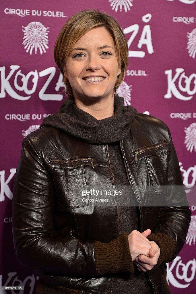 Maria Casado attends 'Cirque Du Soleil' Kooza 2013 premiere on March 1, 2013 in Madrid, Spain.
