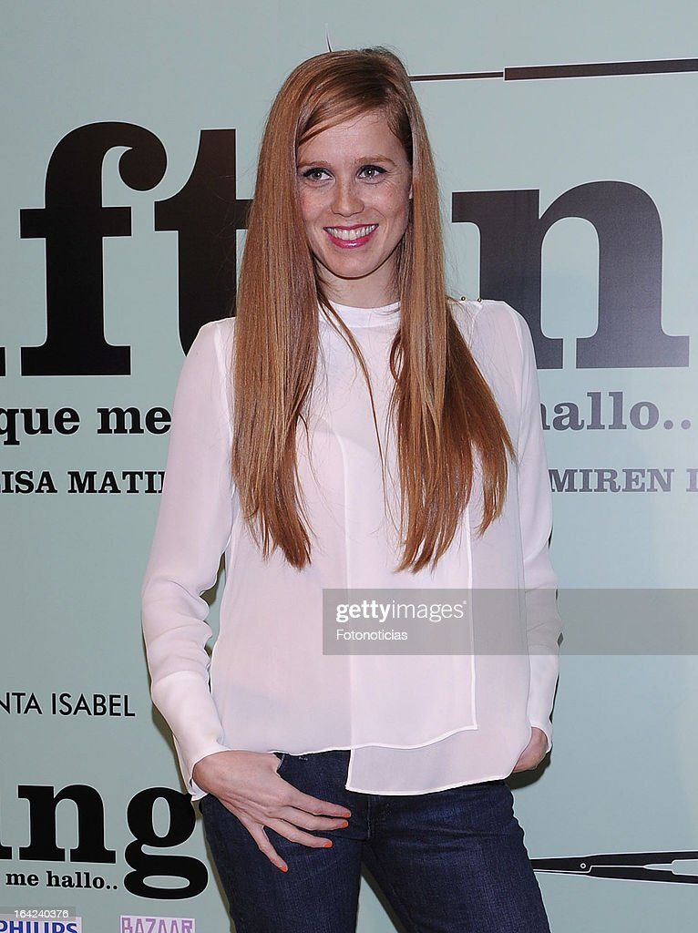 Maria Castro attends the premiere of 'Lifting' at the Infanta Isabel theatre on March 21, 2013 in Madrid, Spain.