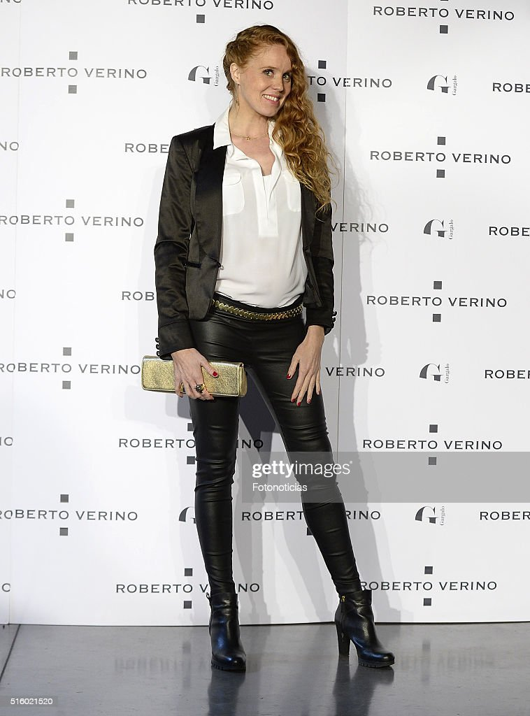 <a gi-track='captionPersonalityLinkClicked' href=/galleries/search?phrase=Maria+Castro&family=editorial&specificpeople=3626635 ng-click='$event.stopPropagation()'>Maria Castro</a> attends the Roberto Verino new Spring-Summer 2016 'Un Balcon al Mar' collection launch at Platea on March 16, 2016 in Madrid, Spain.