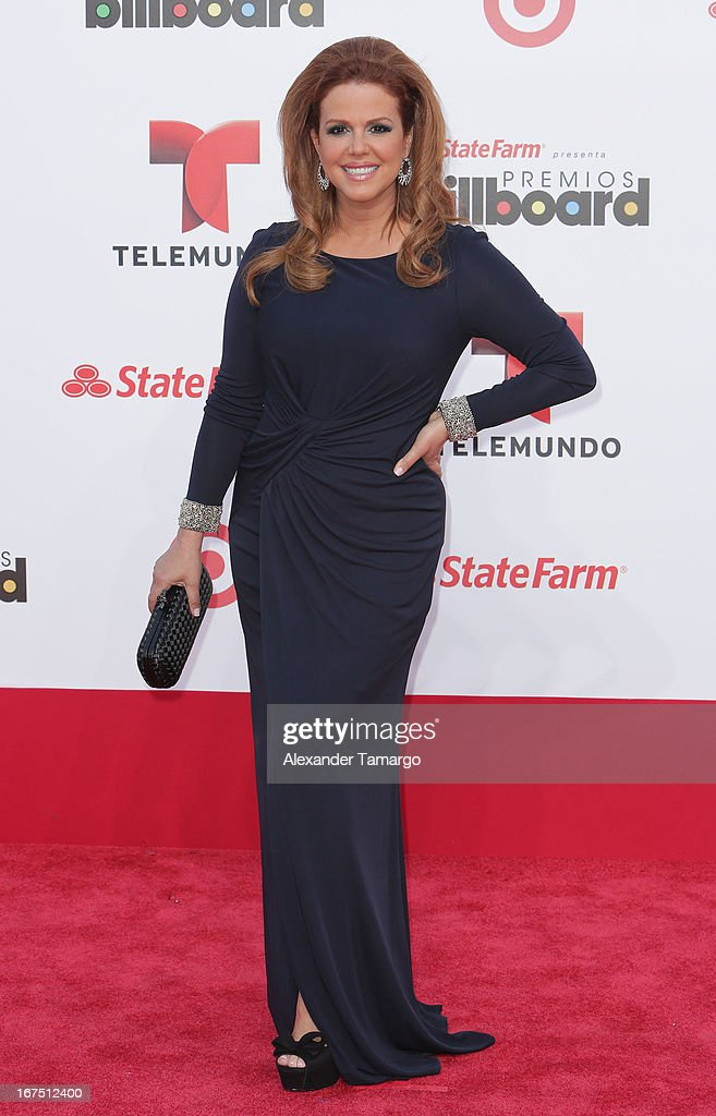Maria Celeste Arraras arrives at Billboard Latin Music Awards 2013 at Bank United Center on April 25, 2013 in Miami, Florida.