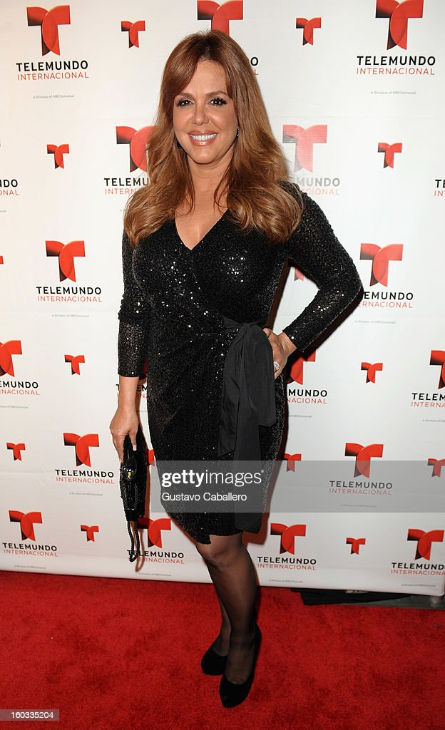 Maria Celeste attends Telemundo International NATPE VIP Party at Bamboo Miami on January 28, 2013 in Miami, Florida.