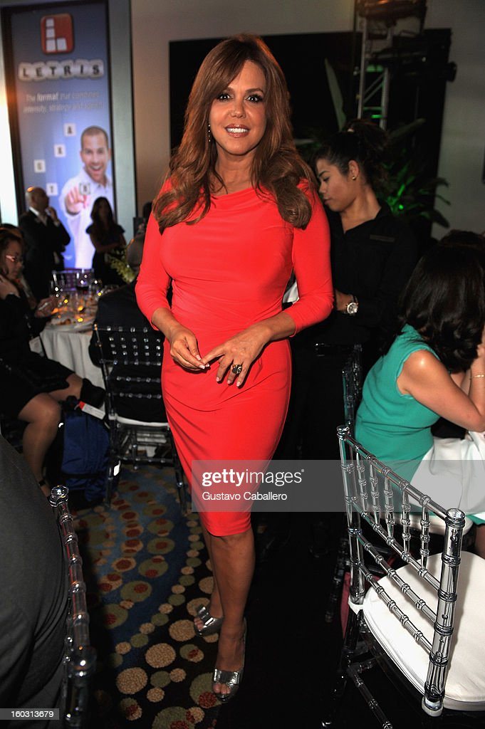 Maria Celeste attends Telemundo NATPE 2013 Press Conference And Luncheon at Eden Roc Hotel on January 28, 2013 in Miami Beach, Florida.