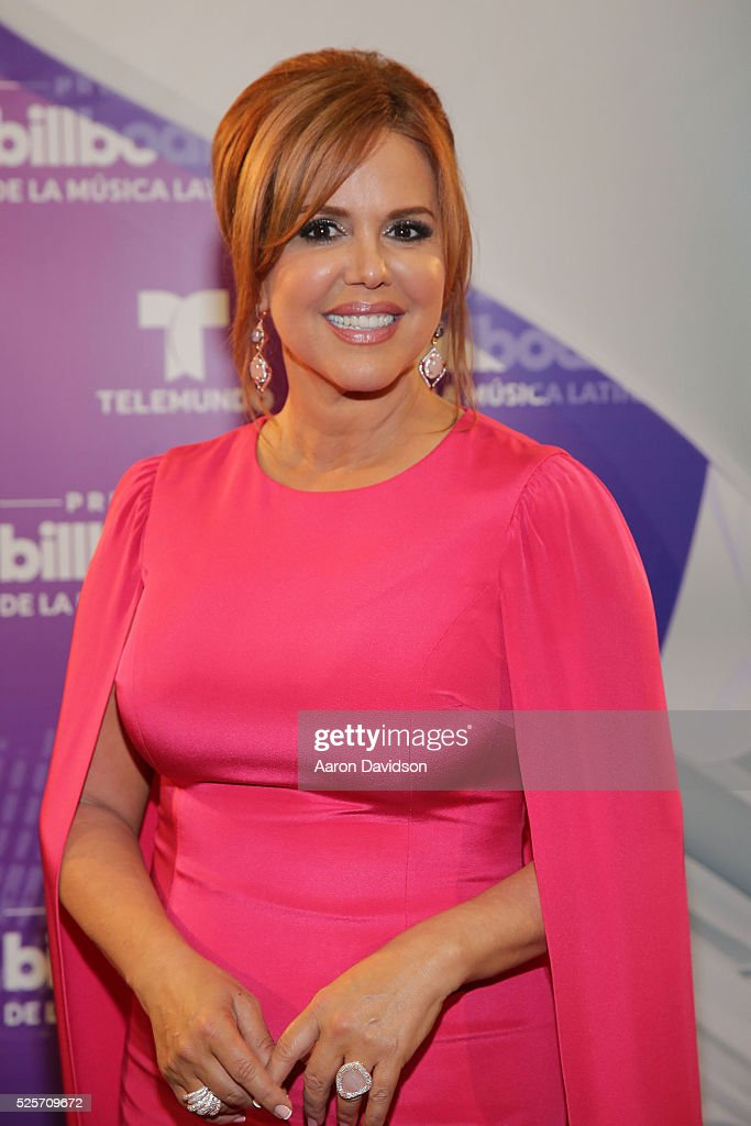 Maria Celeste poses backstage at the Billboard Latin Music Awards at Bank United Center on April 28, 2016 in Miami, Florida.