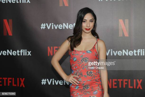 Maria Chacon attends the Vive Netflix 2017 at Museo Casa de la Bola on August 2 2017 in Mexico City Mexico
