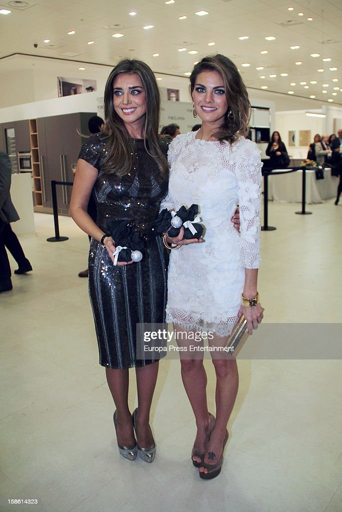 Maria Colonques (L) and Amaia Salamanca attend the Porcelanosa new store opening on December 20, 2012 in Seville, Spain.