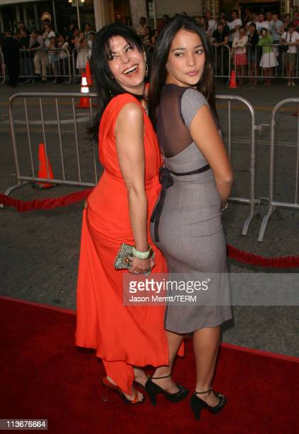 Maria Conchita Alonso and Natalie Martinez during 'Babel' Los Angeles Premiere Arrivals at Mann Village in Westwood California United States