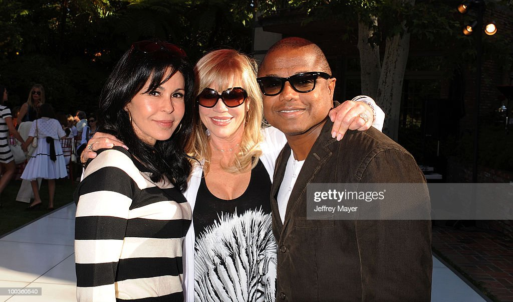 Maria Conchita Alonso, Daphna Ziman and Randy Jackson attend Founder of Children Uniting Nations Daphna Ziman's birthday celebration at private residence on May 22, 2010 in Los Angeles, California.