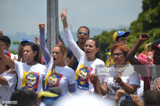 Maria Corina Machado and Lilian Tintori during a rally Caracas on Monday 24 of April This July 9th Venezuela will reach 100 days of protest against...