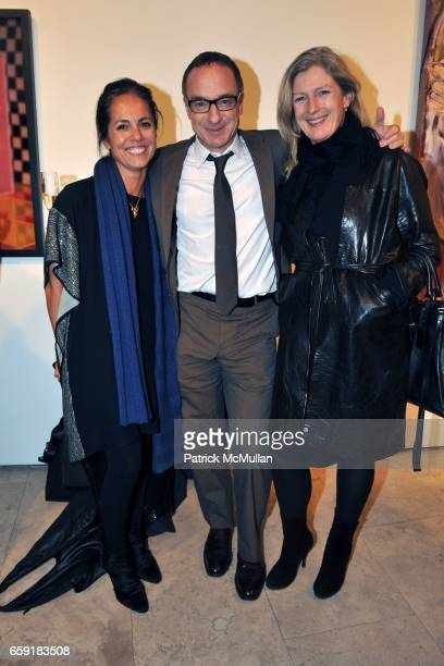 Maria Cornejo Jamie Pallot and Marysia Woroniecka attend Cindi Leive and Bill Wackermann host Glamour Magazine's 'The Glamour Project' art exhibit in...