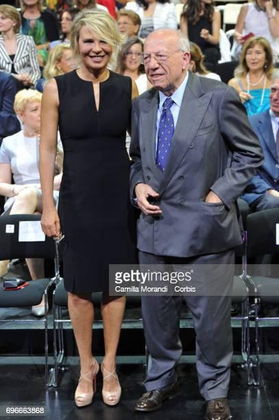 Maria De Filippi and Fedele Confalonieri attend the Bellisario Awards In Rome on June 16 2017 in Rome Italy