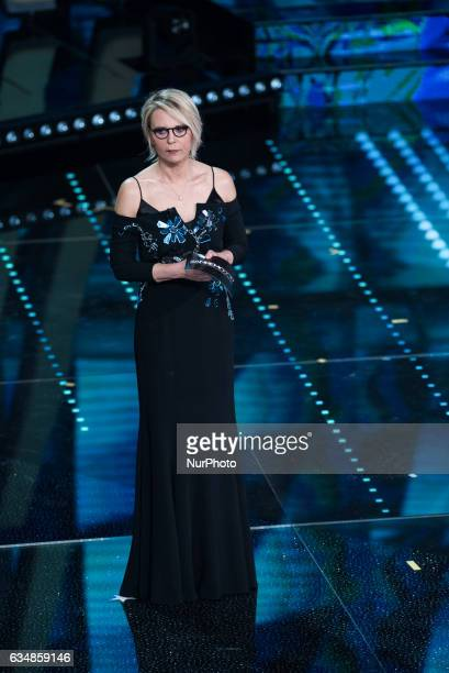 Maria De Filippi attends the closing night of 67th Sanremo Festival 2017 at Teatro Ariston on February 11 2017 in Sanremo Italy