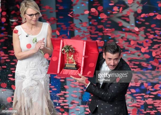 Maria De FilippiFrancesco Gabbani during the 67th edition of the Sanremo Festival on February 11 2017