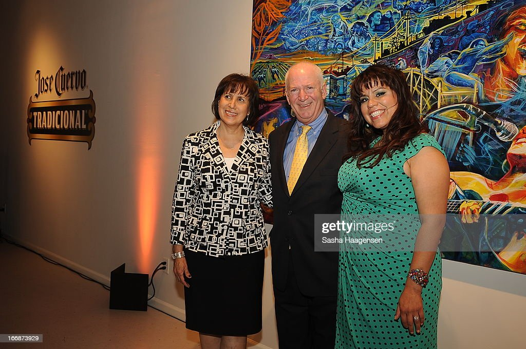 Maria de Leon, John Hartrey and grand prize winner, Adriana Garcia, during the Jose Cuervo Grand Prize Winner Annoucement party at Centro Cultural Aztlan on April 17, 2013 in San Antonio, Texas.