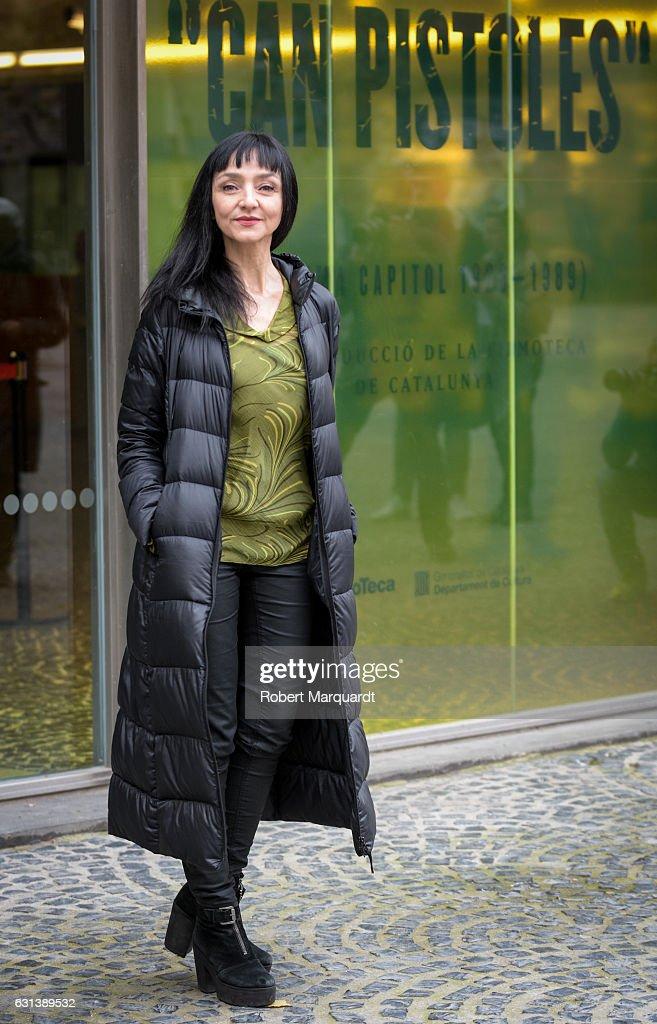 Maria De Medeiros poses during a photocall at the FilmoTeca de Catalunya on January 10, 2017 in Barcelona, Spain.