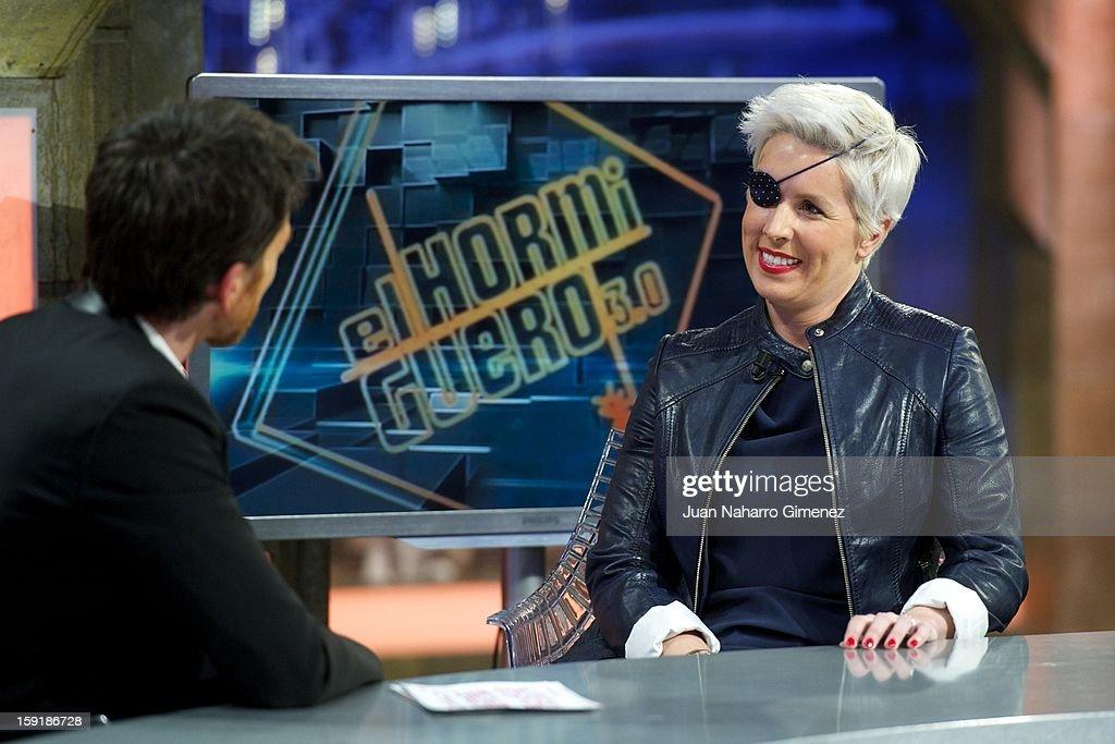 Maria de Villota attends 'El Hormiguero' Tv show at Vertice Studio on January 9, 2013 in Madrid, Spain.