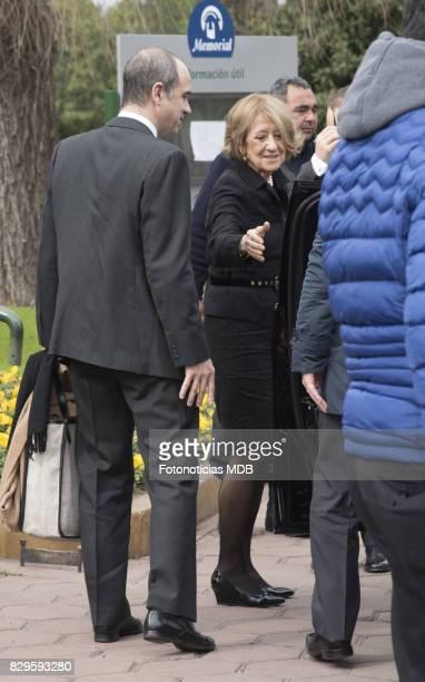 Maria del Carmen Cerruti Carricart and Martin Zorreguieta arrive to Jorge Zorreguieta's funeral at Parque memorial cemetery on August 10 2017 in...