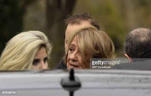 Maria del Carmen Cerruti mother of Queen Maxima of The Netherlands arrives at the Memorial park on August 10 2017 in Pilar Buenos Aires outskirts...