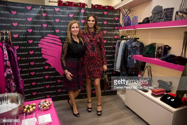 Maria del Mar Gasso Casademunt and Irene Rosales attend the Lola Casademunt boutique opening on October 20 2017 in Malaga Spain