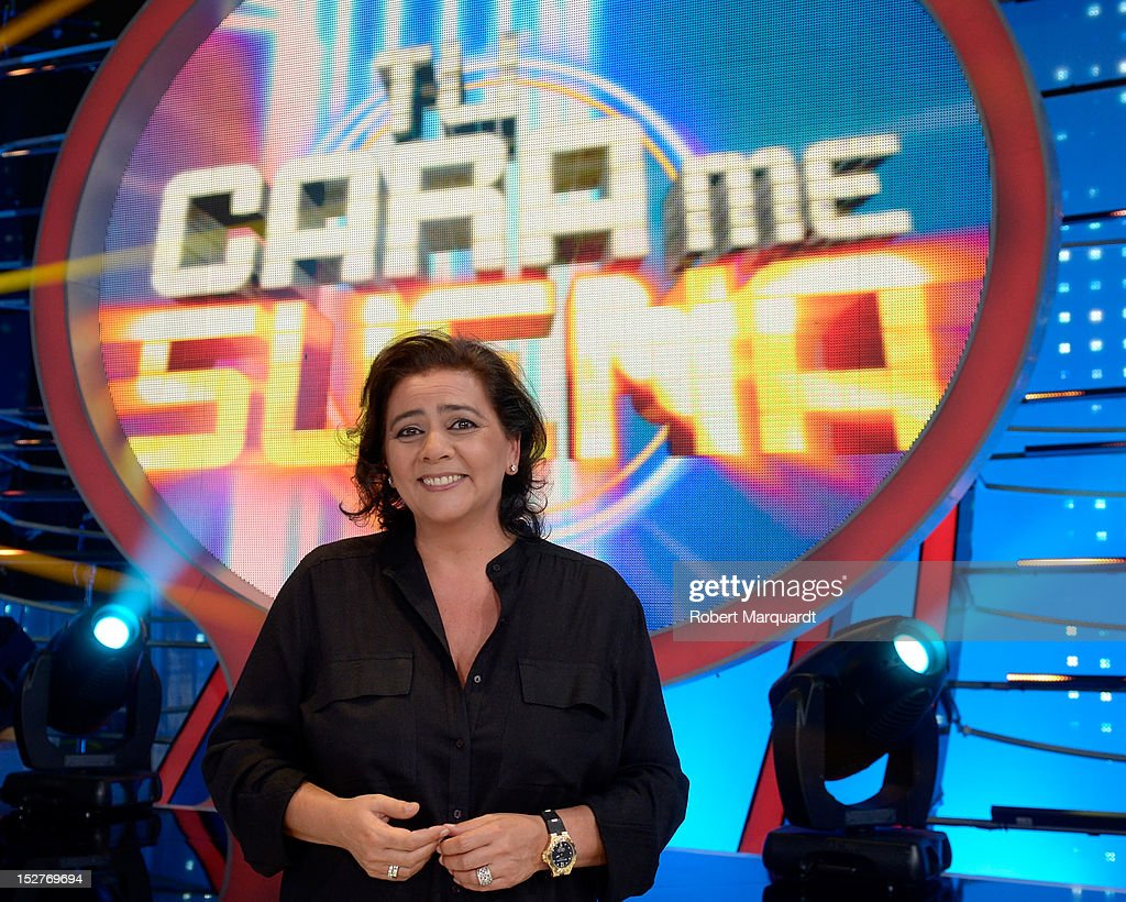 Maria del Monte attends a presentation of the 2nd season of 'Tu Cara Me Suena' at the Antenna 3 studios on September 25, 2012 in Barcelona, Spain.