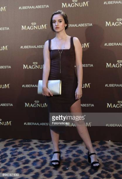 Maria Denaty attends the Magnum new campaign presentation party at the Palacete de Fortuny on June 14 2017 in Madrid Spain