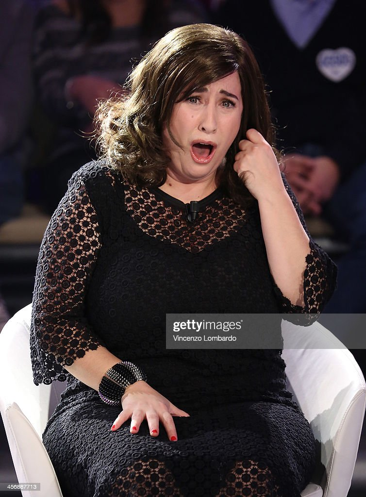 Maria Di Biase appears on Italian tv show 'Quelli Che Il Calcio' on December 15, 2013 in Milan, Italy.