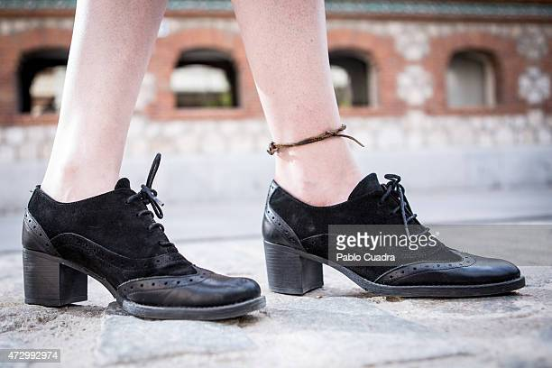 Maria Diaz wears Stradivarious dress Mustang shoes and Lefties handbag on May 11 2015 in Madrid Spain