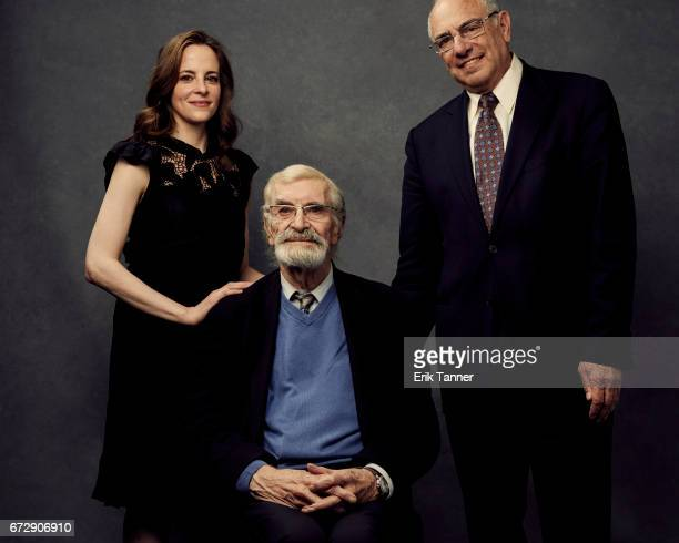Maria Dizzia Martin Landau and Howard Weiner from 'The Last Poker Game' poses at the 2017 Tribeca Film Festival portrait studio on April 24 2017 in...