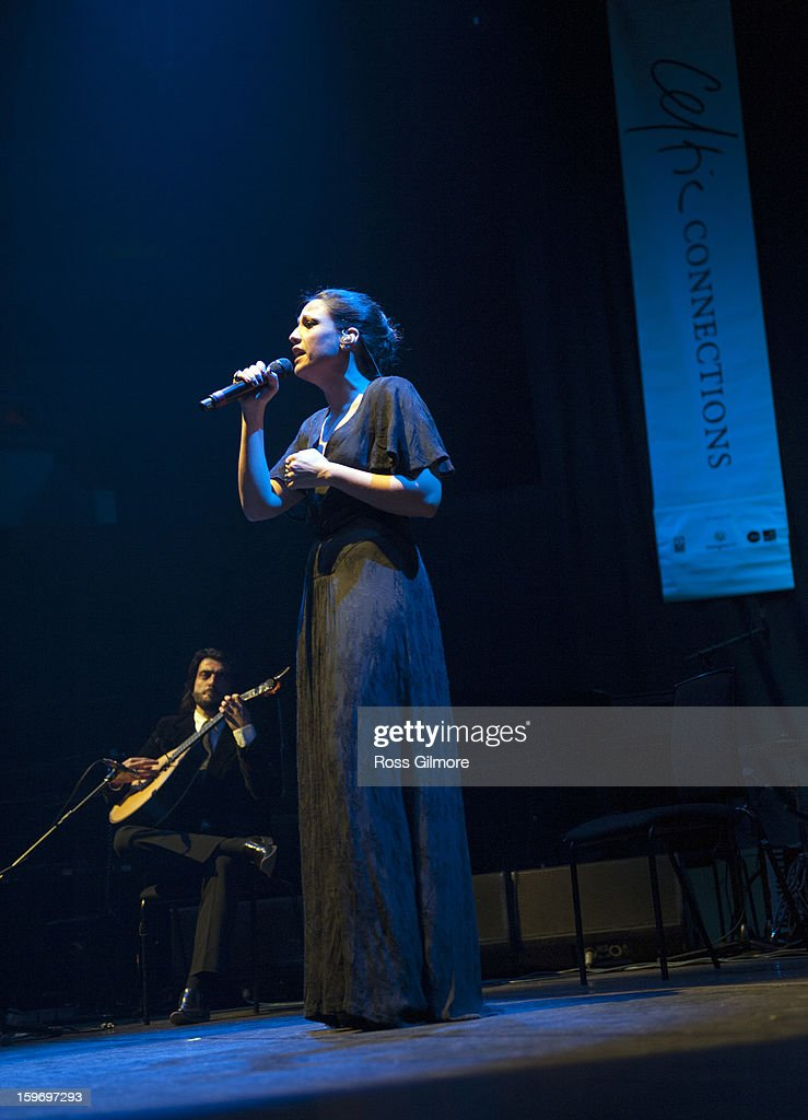 Maria do Carmo Carvalho Rebelo de Andrade performs on stage on Day 2 of The Celtic Connections Festival at Glasgow Royal Concert Hall on January 18, 2013 in Glasgow, United Kingdom.