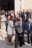 Maria Dolores de Cospedal and Queen Sofia of Spain attend 'El griego de Toledo' Exhibition Opening at Museo de Santacruz on March 14 2014 in Toledo...