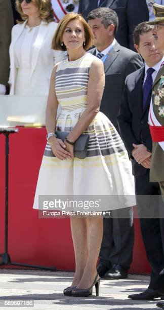 Maria Dolores de Cospedal attends Armed Forces Day on May 27 2017 in Guadalajara Spain